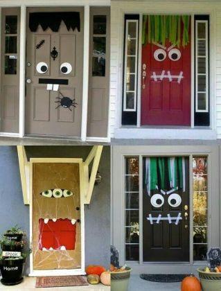 halloween decoración puertas