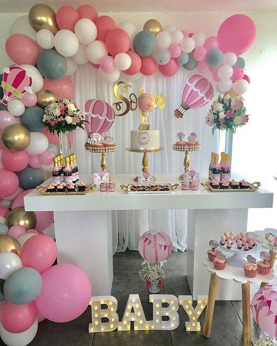 Ideas para decorar un Baby Shower para nia  Decoracin 2019