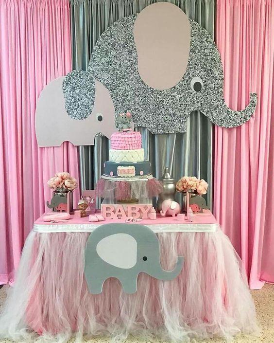 Decoracion De Mesa Para Baby Shower Ni�a : decoracion, shower, Shower, Decoracion, Elefante, Viewer