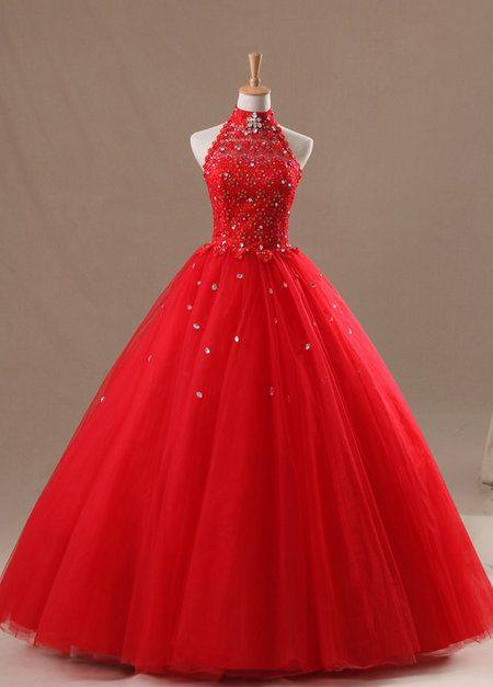 Vestidos para quince aos de princesa rojos 17  Ideas