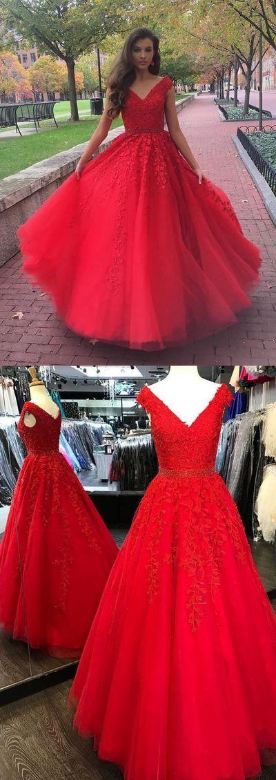 vestido rojo de 15 anos para morenas  Ideas para Fiestas