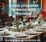 Prepara la mesa en Navidad