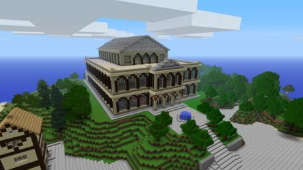 minecraft houses cool designs mansion idea outside theater build creative teatro blueprints hative xbox fortress nether technology tree v1