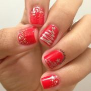 cool christmas nail design