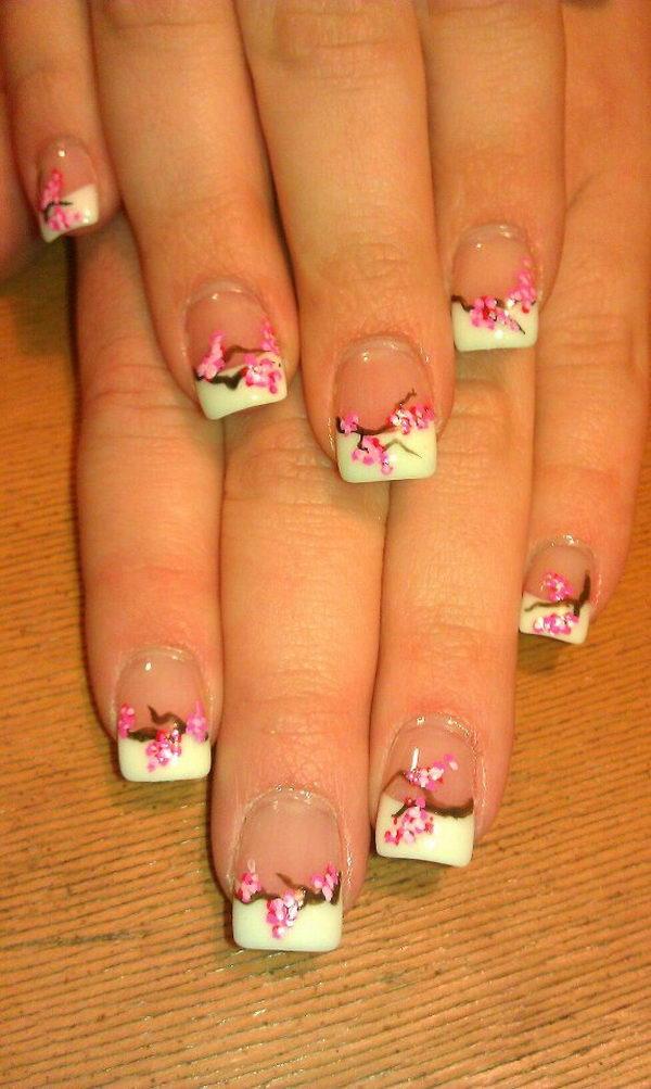 30 Pretty Flower Nail Designs 2017