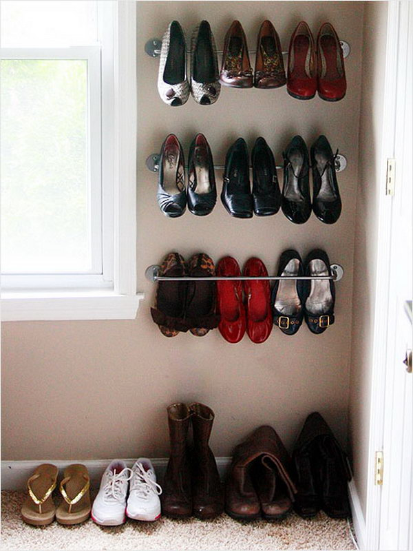 15 Creative Shoes Storage Ideas 2017