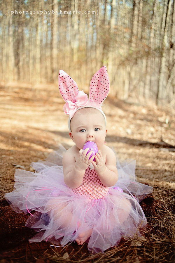 Cute Babies With Pink Dress Wallpapers Fun And Festive Easter Photo Ideas 2017