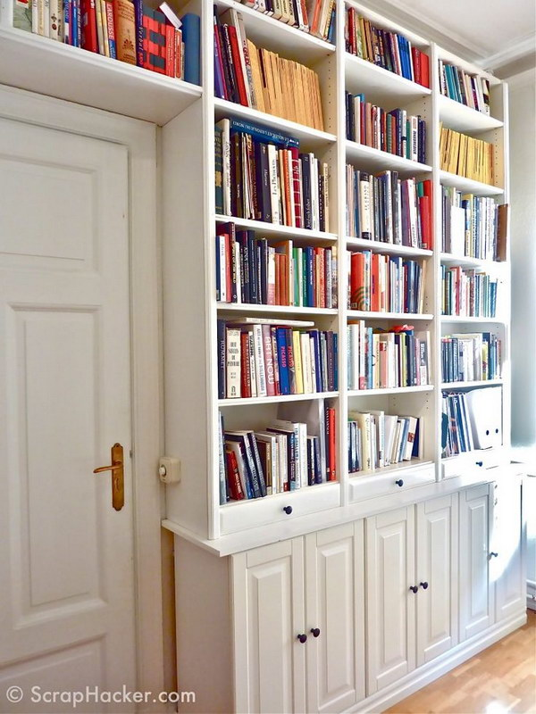 Long Low Bookcase Doors