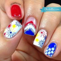 30 Flashing Patriotic 4th of July Fireworks Inspired Nail ...