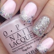 stunning glitter nail design
