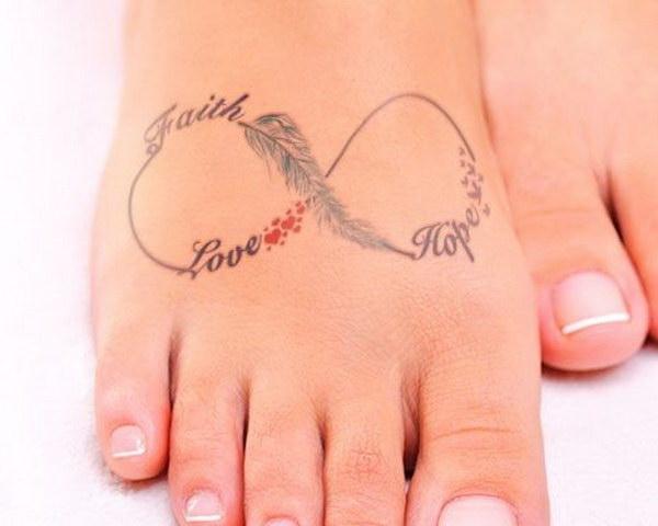 Collarbone Faith Hope Love Tattoo On Shoulder