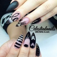 35+ Fearless Stiletto Nail Art Designs 2017