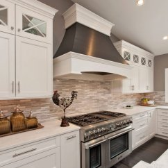 White Kitchen Backsplash Painting Cupboards 30 Awesome Ideas For Your Home 2017 And Grey Linear Tile
