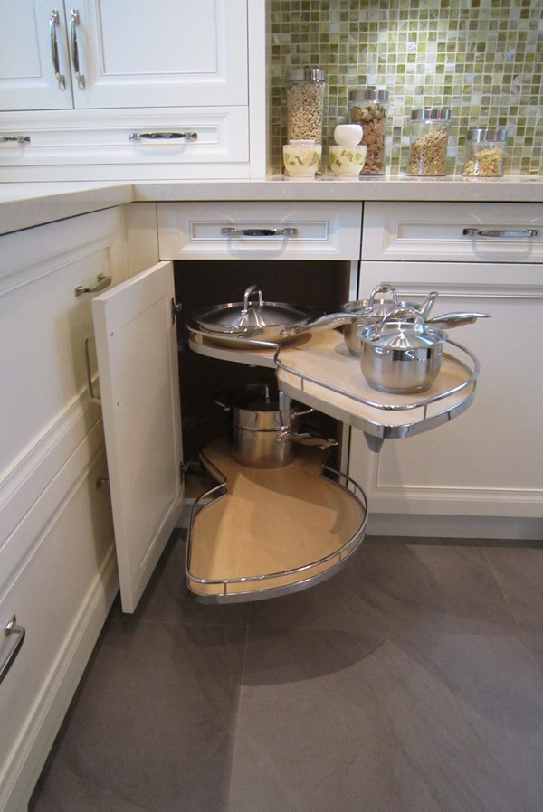 kitchen corner cabinet comfort mat storage ideas 2017 the pull out lazy susan