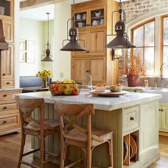 Lighting For Kitchen Hood Fan 30 Awesome Ideas 2017 Rustic With Industrial Steel Pendants