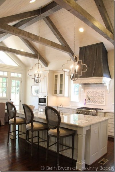 open kitchen with ceiling beams 30+ Awesome Kitchen Lighting Ideas 2017
