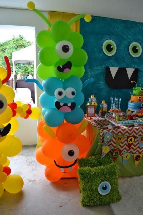 Monster Themed Birthday Party Decorations