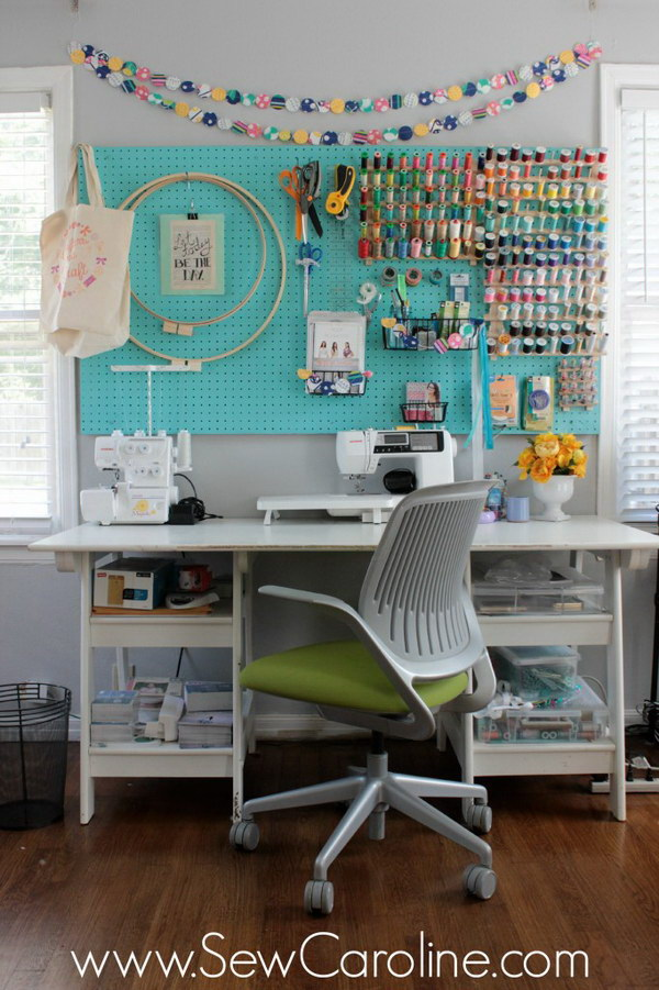 Sewing Room Storage  Organization Ideas 2017