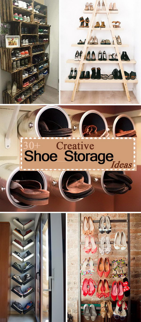 30 Creative Shoe Storage Ideas 2017