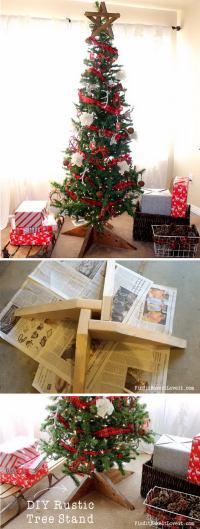 30 Creative Christmas Tree Stand DIY Ideas 2017