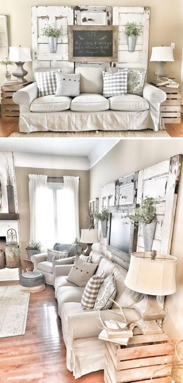 wall mounted lights living room good colors feng shui 40 rustic decor diy ideas 2017