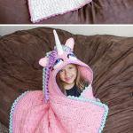 15 Crochet Hooded Blanket Ideas 2017