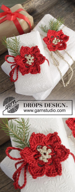 15 Crochet Poinsettia Christmas Flower Ideas 2017