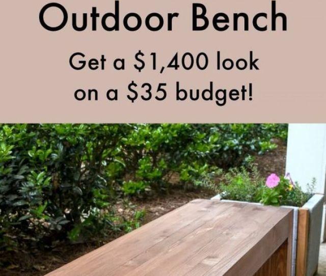 Easy Modern Wooden Bench