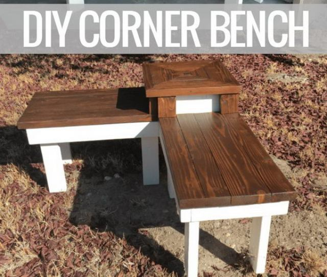 Diy Corner Bench With Built In Side Table