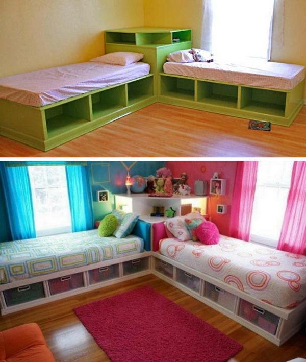 Twin Corner Bed.