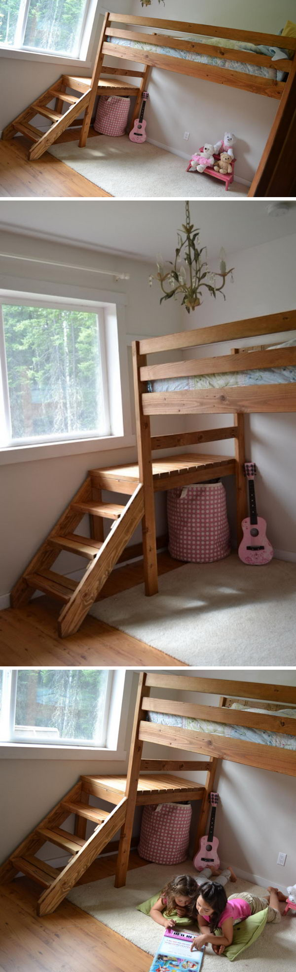 Diy Camp Loft Bed With Stair.