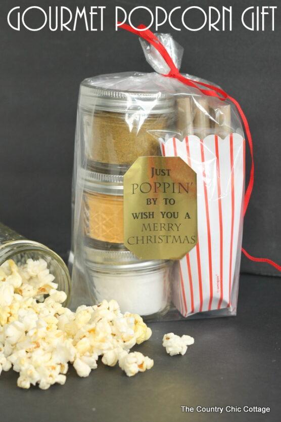 Popcorn and seasonings in a plastic bag