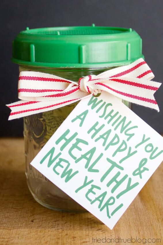 Organic sprout mix inside a mason jar