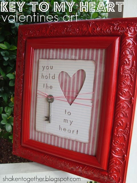 Key to my heart Valentine's art