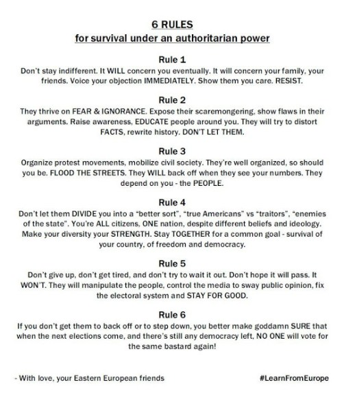 Six Rules For Survival Under An Authoritarian Power (Text