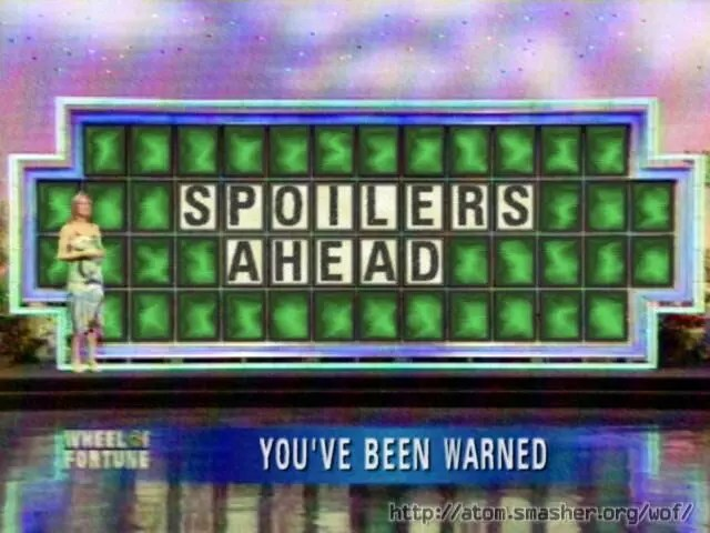 Spoilers ahead! Don't scroll down if you don't want to see them!
