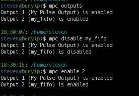 mpc outputs mpc disable my_fifo mpc enable 2
