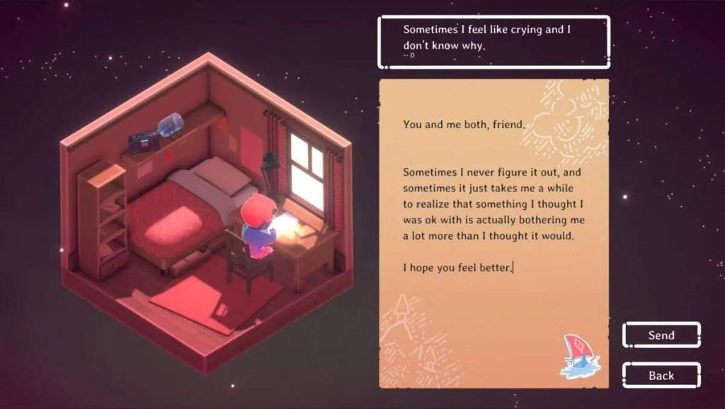 "screenshot of ""Kind Words"""