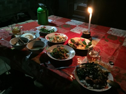 Diner maison, Trek Inle lake, Birmanie