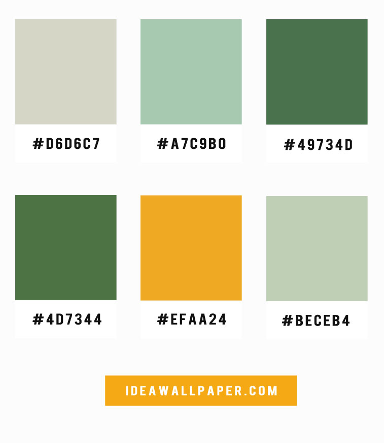 Mint Green Mustard Color Palette Idea Wallpapers Iphone