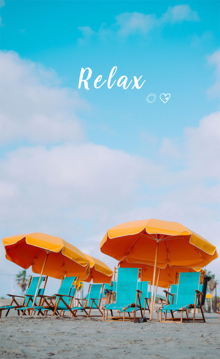 Turquoise Beach Deck Chairs & Mustard Parasols - Beach iPhone wallpaper, iphone background , beach wallpaper, deck chairs iphone wallpapers