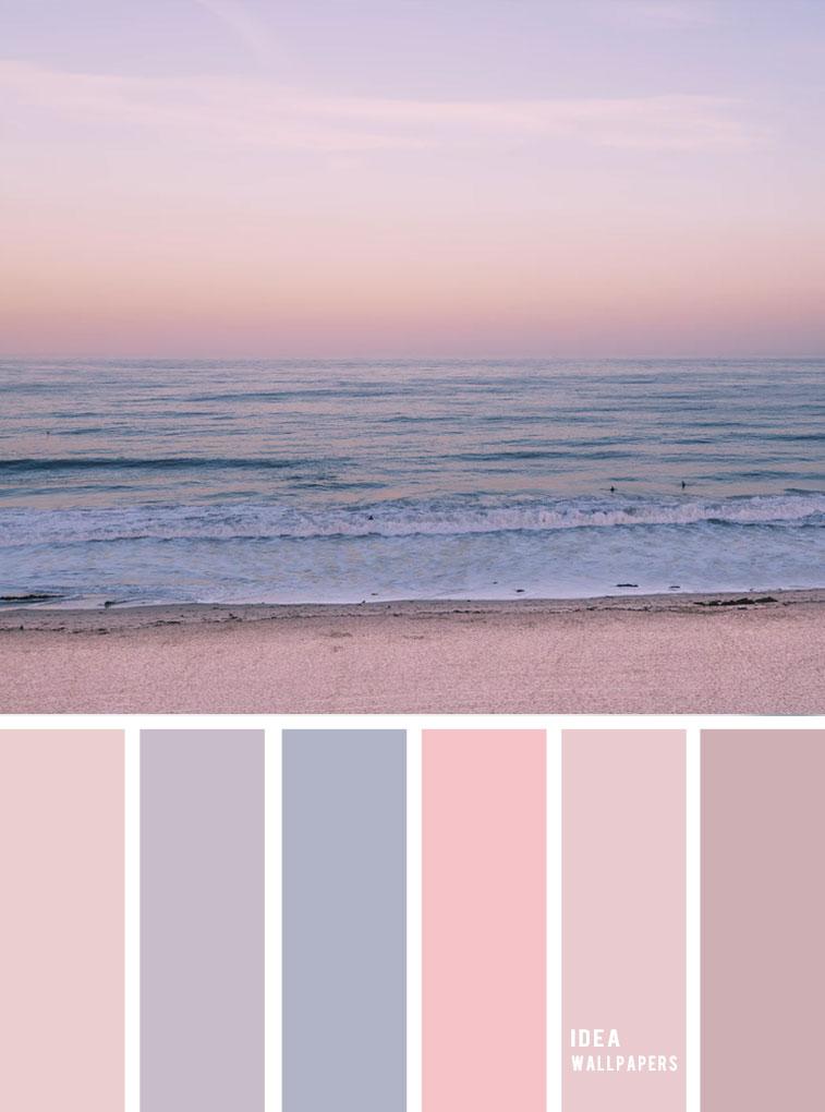 Mauve sky inspired color palette { Pastel color scheme } evening sky color palette  #color #colorpalette