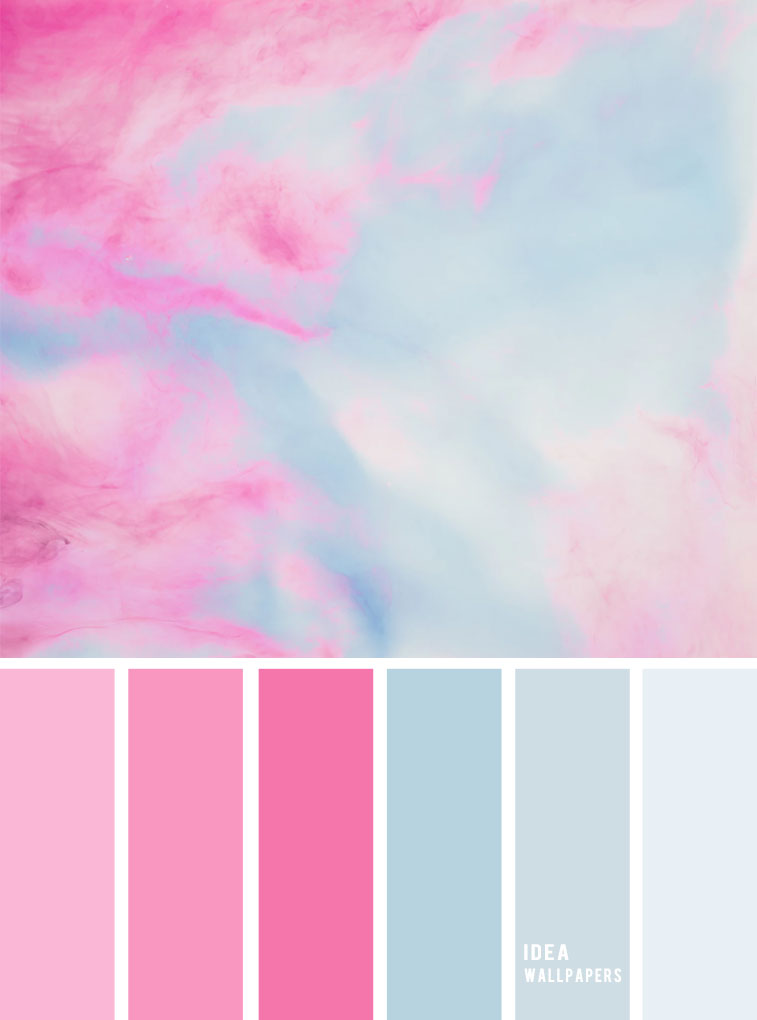 19 The perfect pink color combinations { Pink + Blue Color Scheme } #color #colorpalette color scheme, Blue and pink colors