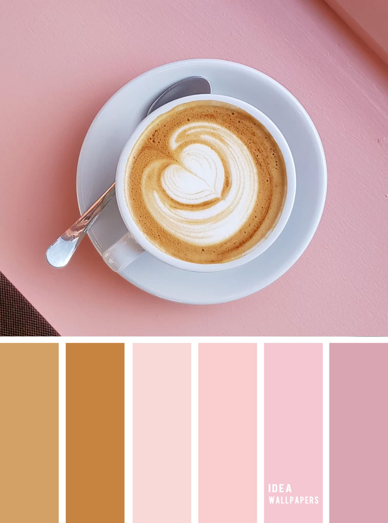 19 The Perfect Pink Color Combinations { Coffee and pink hues } gold and pink color palette , color schemes #colors #colorpalette