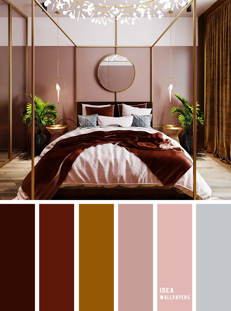10 Best Color Schemes for Your Bedroom { Burgundy + Gold Mustard + Blush Mauve }, burgundy blush color palette, colour palette #color #colorpalette