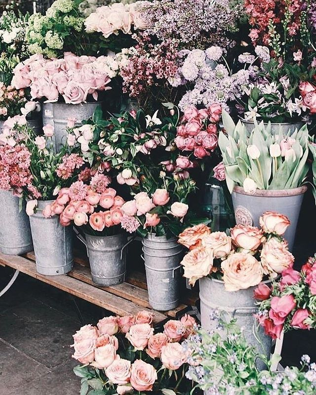 Flowers Displayed In Flower Market Idea Wallpapers