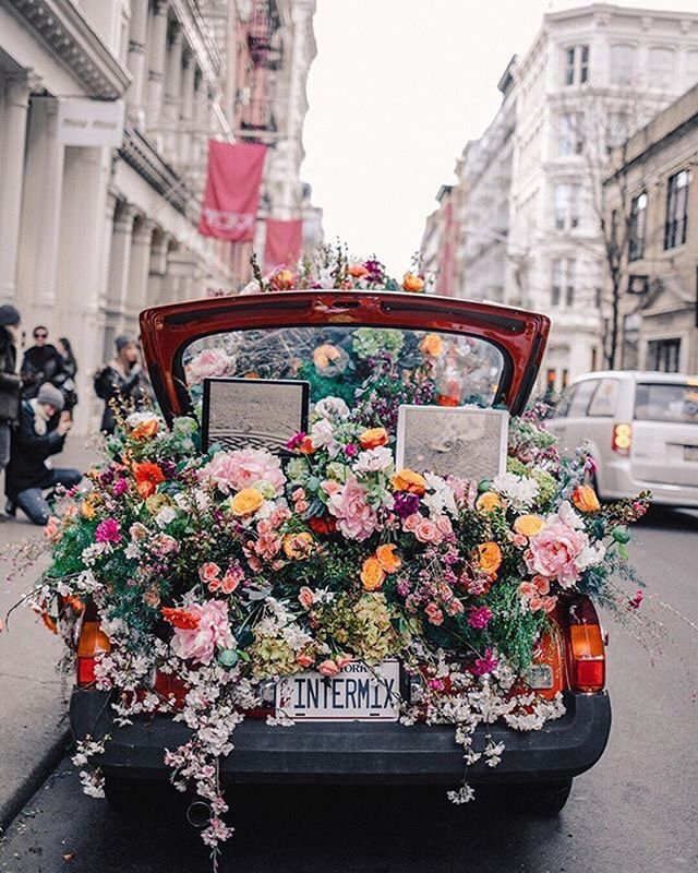 A car full of flowers, floral festival
