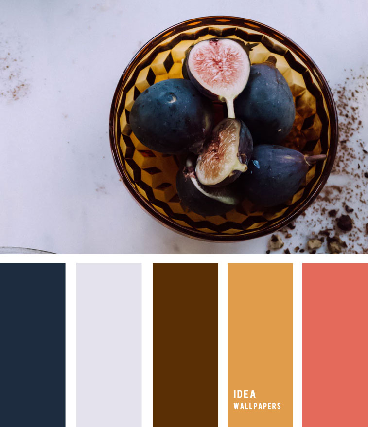 Fig and amber hues - Colour Palette 190521 , color palette , amber and coral #color fig inspired
