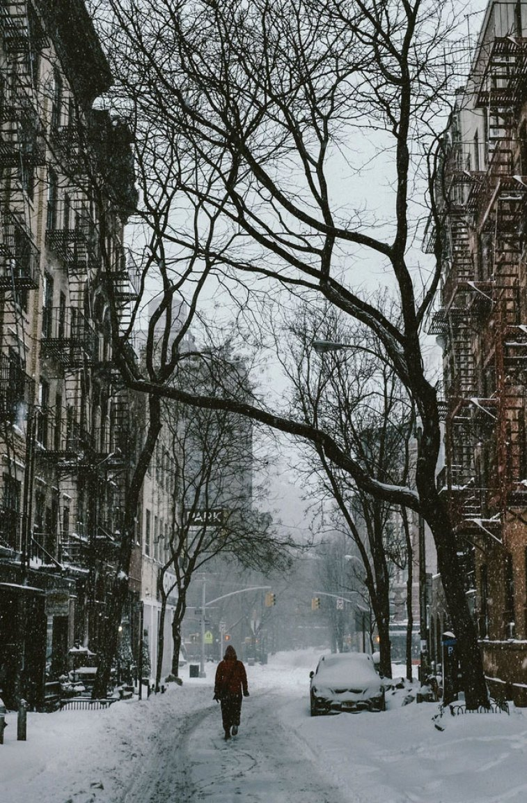 City iphone wallpaper, Snow in New York, town iphone wallpaper, background #iphone #background #wallpaper