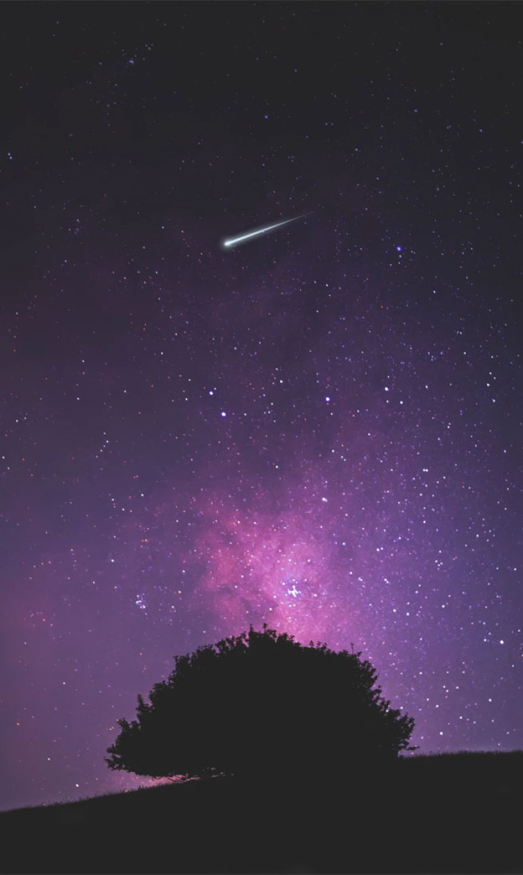 Beautiful night sky with shooting star - Beautiful night sky iphone wallpaper , iphone background #iphonewallpaper #beach #summer #sunset